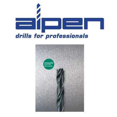 ALPEN DRILL Broca para metal y broca de acero inoxidable